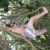 Klettern wie Tarzan.