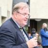 Der Präsident der röm. kath. Kirchenpflege Urs Rechsteiner richtet sein Grusswort an die Festgemeinde