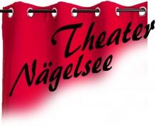 Logo roter Vorhang mit der Aufschrift Theater Nägelsee